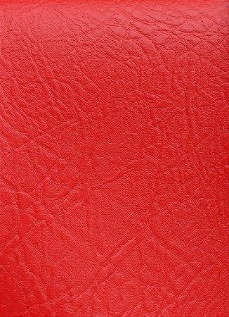Tecido Courvin Rajado Estilo Couro Vermelho - Brescia 16