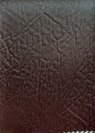 Tecido Courvin Rajado Estilo Couro Marrom Escuro - Brescia 17