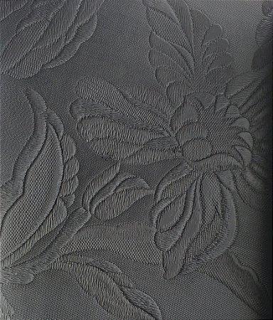 Tecido courvin Floral Preto - Vivace 07