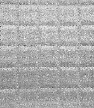 Tecido courvin estilo perfurado leve brilho Cinza Claro- Cristal 04