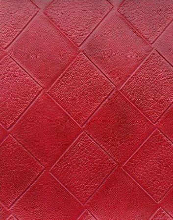 Tecido courvin Estilo Patchwork Vermelho Escuro - Cristal 33