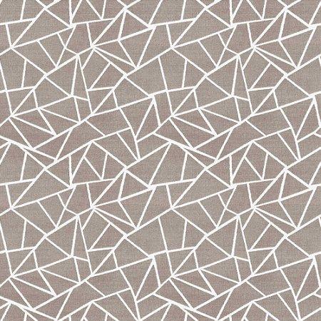 Tecido para Sofá e Estofado Chenille Viscose Geométrico Branco - Largura 1,37m - COL-08