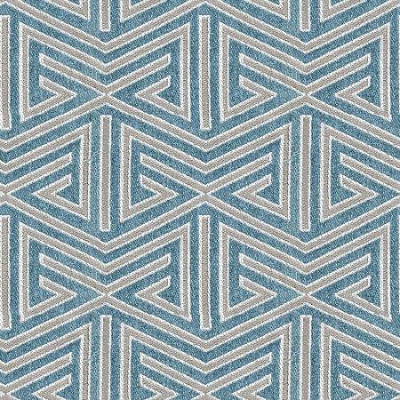 Tecido para Sofá e Estofado  Chenille Viscose Triângulo Azul - Largura 1,37m - COL-23