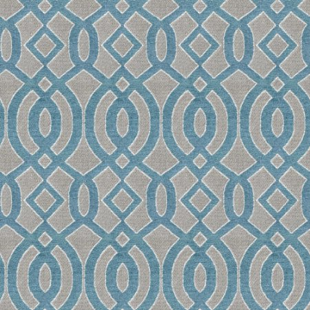 Tecido para Sofá e Estofado Chenille Viscose Mandala Azul - Largura 1,37m - COL-24