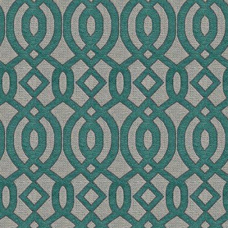 Tecido para Sofá e Estofado Chenille Viscose Mandala Verde - Largura 1,37m - COL-28