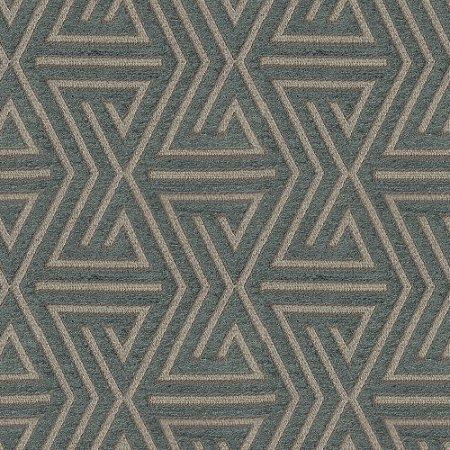 Tecido para Sofá e Estofado Chenille Viscose Triângulo Aço - Largura 1,37m - COL-36