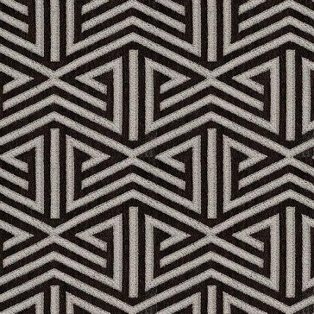 Tecido para Sofá e Estofado Chenille Viscose Triângulo Marrom Largura 1,37m - COL-41