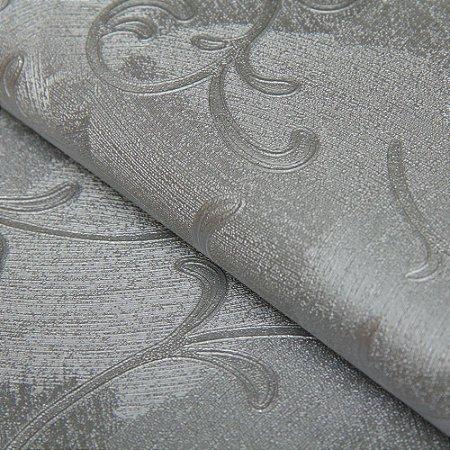 Papel de parede Arabesco Cinza e Prata com Gliter - Classici A91807
