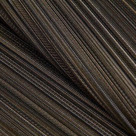 Papel de parede Listrado fino Tons de Preto, Cinza, Caramelo  - Classici A91711