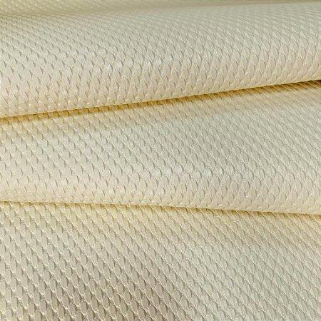 Tecido Courvin Náutico Kelsons Trançado Creme Anti Mofo e com proteção UV