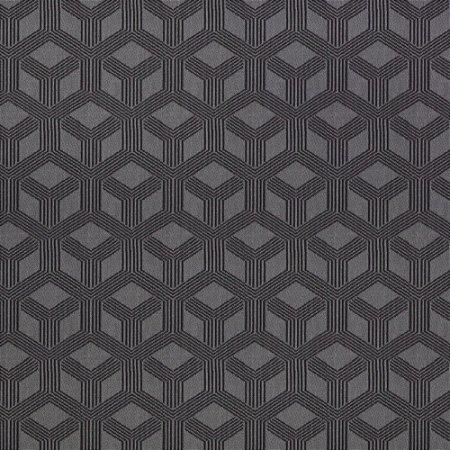 Tecido para Sofá Jacquard Geométrico Cinza - Largura 1,40m - PIS-01