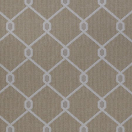 Tecido para Sofá Jacquard Geométrico Bege e Branco - Largura 1,40m - PIS-09