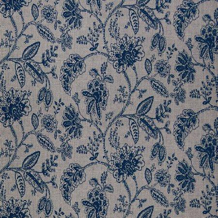 Tecido para Sofá Jacquard Floral Azul Marinho - Largura 1,40m - PIS-36