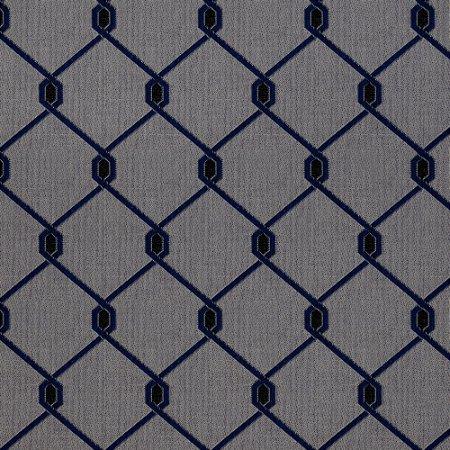 Tecido para Sofá Jacquard Geométrico Azul - Largura 1,40m - PIS-38