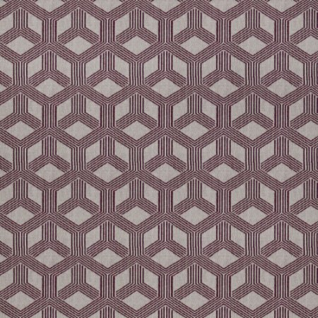 Tecido para Sofá Jacquard Geométrico Vermelho - Largura 1,40m - PIS-43