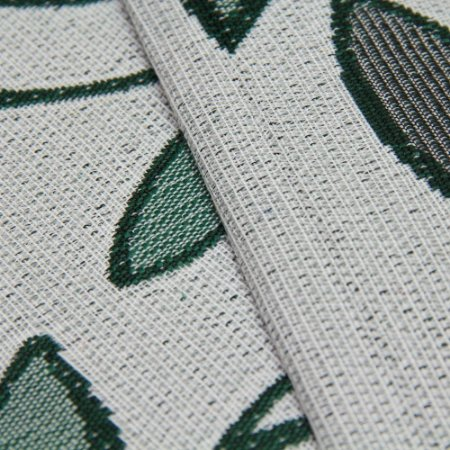Tecido Estilo Linho Floral Verde com fundo cinza claro - Safira 2