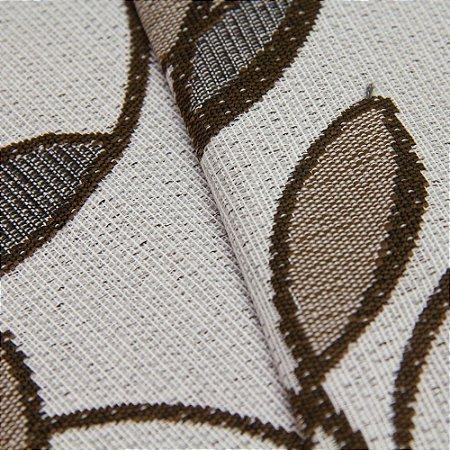 Tecido Estilo Linho Floral Marrom e fundo cinza Claro - Safira 8