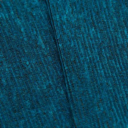 Tecido Estilo Linho Azul turquesa Rajado com Preto - Safira 44