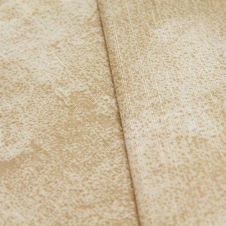 Tecido Estampa Abstrato Tons de Marrom Claro - Turquesa 2