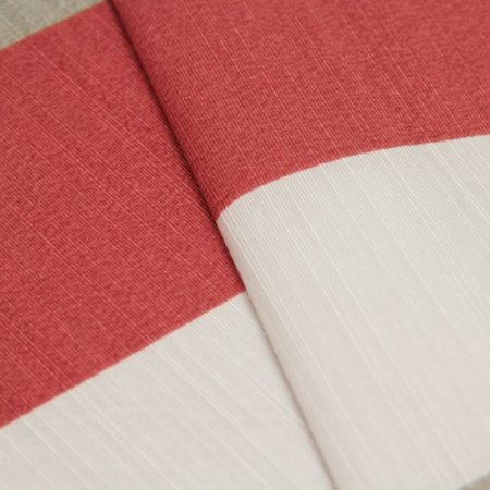 Tecido Listrado grosso Branco, cinza e vermelho queimado - Turquesa 21