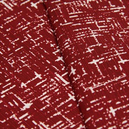 Tecido Rajado Vermelho Escuro e Creme - Turquesa 26