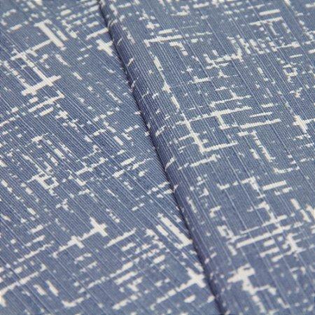 Tecido Rajado Azul Claro e Creme - Turquesa 30