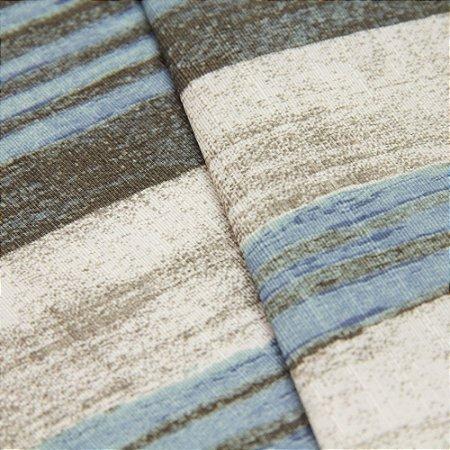 Tecido Estilo Madeira antiga em Marrom, Azul e Branco - Turquesa 37