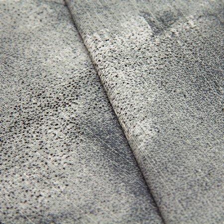 Tecido Abstrato Tons de Cinza Chumbo- Turquesa 52