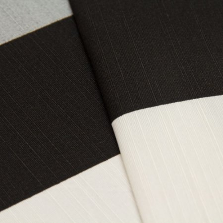 Tecido Listrado grosso Preto, Cinza e Branco - Turquesa 55