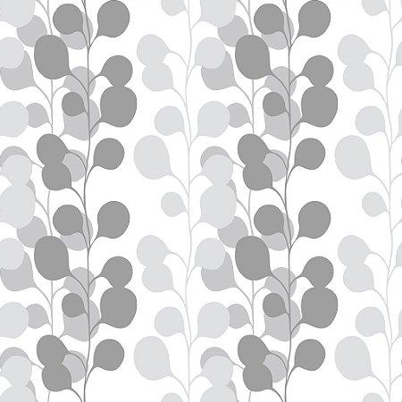 Papel de parede vinílico Floral tons de Marrom e Branco - Metrópole 820101