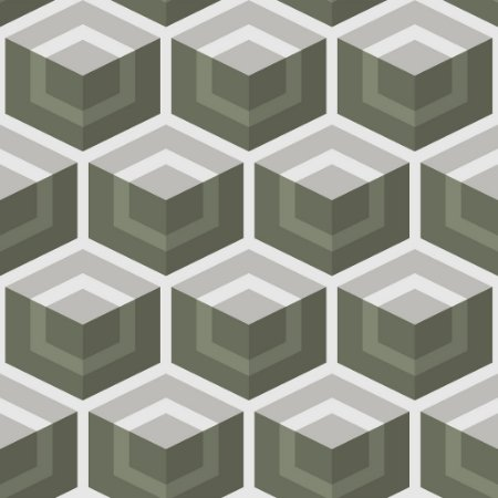 Papel de parede vinílico Geometrico Tons de Verde, Cinza e Branco - Metrópole 820204