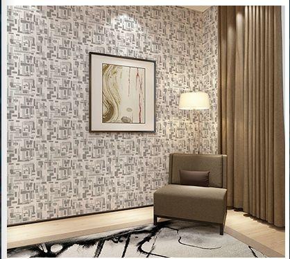 Papel de parede vinílico Abstrato Branco e Cinza - Metrópole 820401