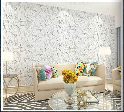 Papel de parede vinílico Abstrato Branco e Cinza - Metrópole 820501