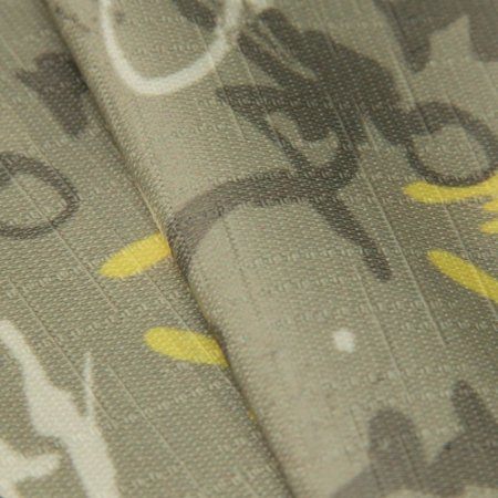 Tecido Jacquard Estilo Assinaturas, Tons de Fendi e Amarelo - Irl 17