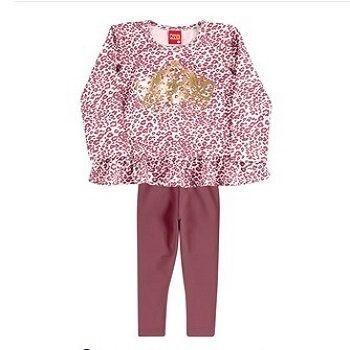 Conjunto infantil Kylly cotton  legging e bata