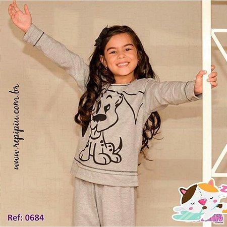 Pijama infantil cachorro mostrando lingua
