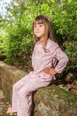 Pijama inverno rosa abecedário