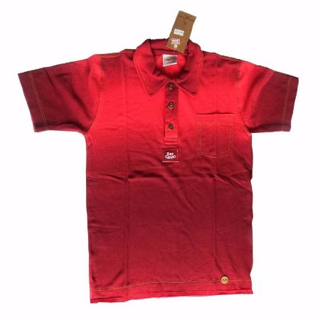 Camiseta infantil polo manga curta