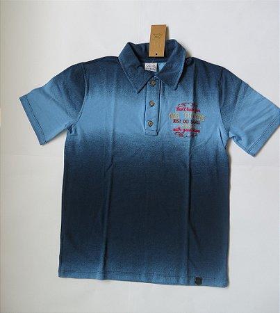 Camisa polo infantil em piquet