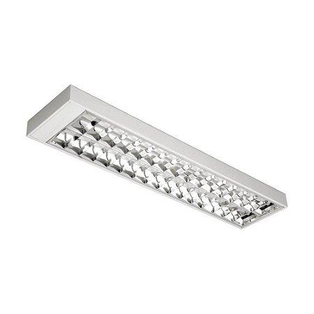 Luminária de Sobrepor Retangular T8 2x16w - A01-BM Abalux
