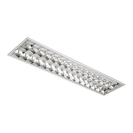 Luminária de Embutir Retangular T8 2x32w - A04-BM Abalux