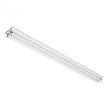 Luminária de Sobrepor Retangular T8 2x20w- A667 BM Abalux