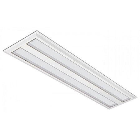 Luminária LED de Embutir Retangular 37w 3000k 3600lm - LEDC26-3K Abalux