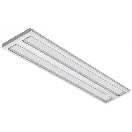 Luminária LED de Sobrepor Retangular 37w 4000k 3600lm Dimerizável - LEDC29-4KD Abalux