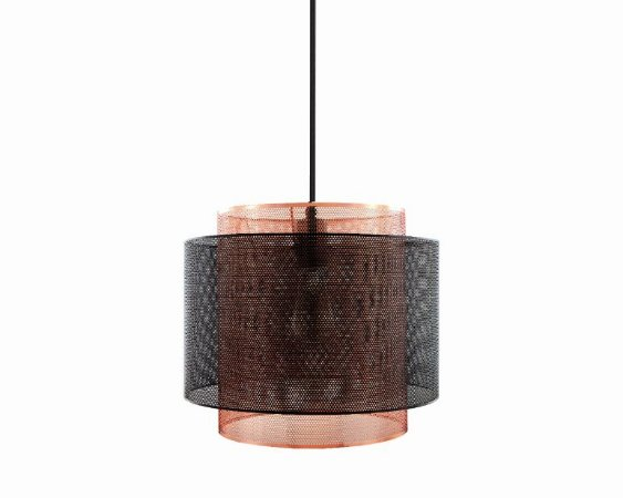 Pendente em metal preto e cobre - 6522 Mart Collection