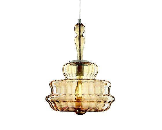 Pendente em vidro dourado - 7311 Mart Collection