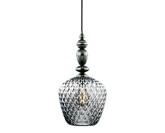 Pendente em metal e vidro cromado translucido - 6449 Mart Collection