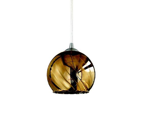 Pendente em vidro dourado - 7402 Mart Collection