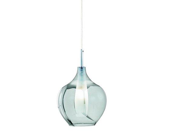 Pendente em vidro cromado e interior em vidro branco - 6606 Mart Collection