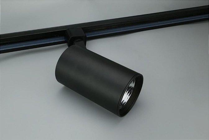 Spot para Trilho Eletrificado AR70 GU10 Preto Osram